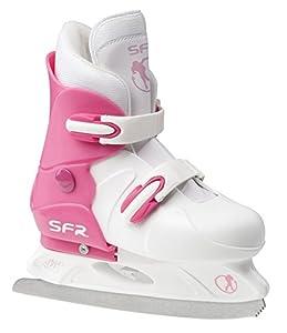 SFR Girls Adjustable Hardboot Figure Ice Skate - UK 3 to 6