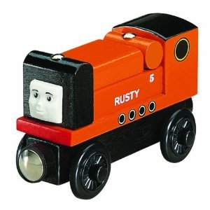 THOMAS THE TANK WOODEN TRAIN ENGINE - RUSTY