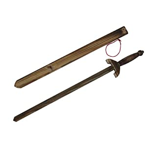 Amazon.com : Wooden Practice Sword W Sheath : Martial Arts ...