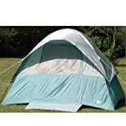 5 Person Extra Large Square Dome Tent Five Man Tent with Oversized Roof Canopy (with Tent Stakes and Carry Bag)