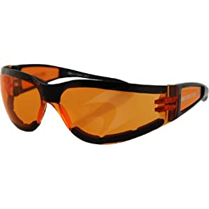Frameless Motorcycle Glasses : Amazon.com: Bobster Shield II Adult Frameless Active ...