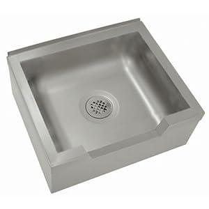 Single Floor Mounted Mop Sink Size: 12