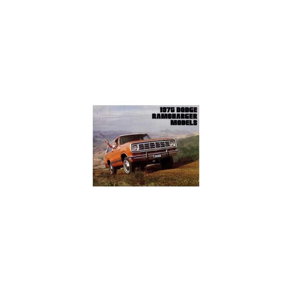1975 Dodge RAMCharger Sales Brochure Literature Book Advertisement Options Specs Automotive