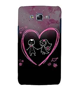 Cute Love Pair 3D Hard Polycarbonate Designer Back Case Cover for Samsung Galaxy J5 (2015) :: Samsung Galaxy J5 J500F (Old Version)