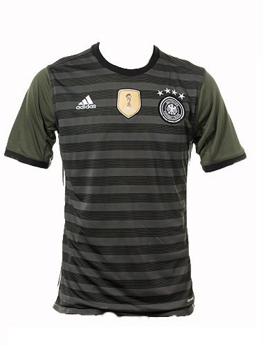 Euro 2016 Cup Germany National Soccer Team Away Jersey (Grey, Large)