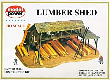 Model Power HO Scale Building Kit - Lumber Shed