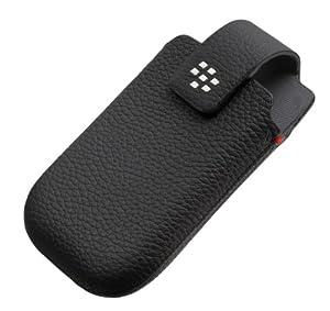 BlackBerry Holster Etui en cuir pour 9300/9700/8520 Noir