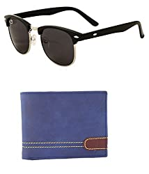 Aventus Combo of Black Clubmasters & Urban Blue Wallet