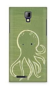 Amez designer printed 3d premium high quality back case cover for Micromax Canvas Express A99 (Green octopus drawing)