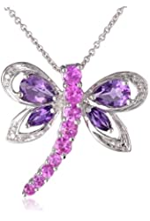 Sterling Silver Dragonfly Pendant Necklace, 18""