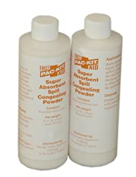 Pac-Kit by First Aid Only 70-850 Spill Clean-Up Powder, 8 oz Pour Bottle