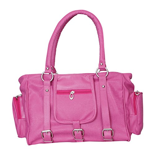 Naaz Bags Collection Women's 3 Buckle Hand Bag ( Pink_NBC000256)  available at amazon for Rs.270