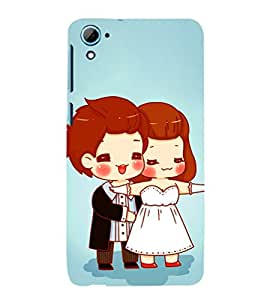 EPICCASE Happy Couple Mobile Back Case Cover For HTC Desire 826 (Designer Case)