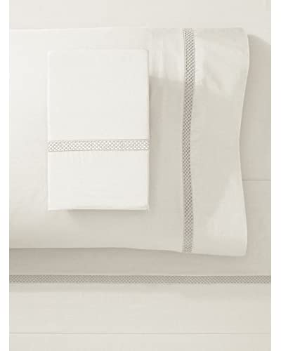 Silverline Percale Lace Sheet Set