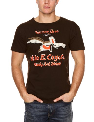 logoshirt-camiseta-de-looney-tunes-con-cuello-redondo-para-hombre-talla-41-42-color-carbon