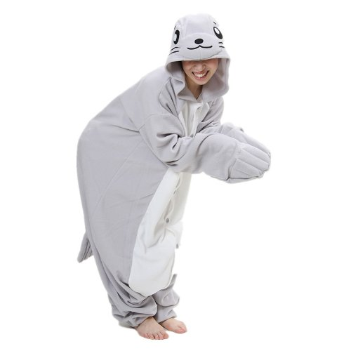 Women Men Sea Dog Unisex Adult Animal Sleep Suit Cosplay Kigurumi Costume Pajamas Outfit Costume Nightclothes Onesies Clothing Pajamas Tracksuit
