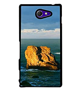 printtech Sea Ocean Rock Back Case Cover for Sony Xperia M2 Dual D2302 , Sony Xperia M2