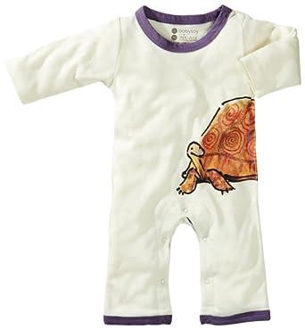 Babysoy Baby-Girls Newborn Janey Baby One Piece Bodysuit, Tortoise, 6-12 Months