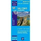 Top25 3634OT ~ Val Cenis Wanderkarte mit einem kostenlosen Maßstabslineal