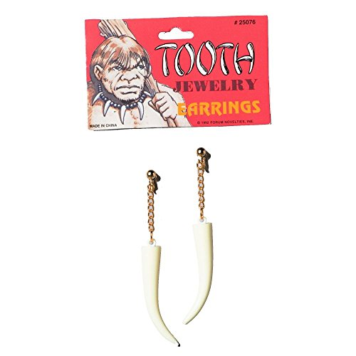 Stone Age Style Sabre Tooth Earrings