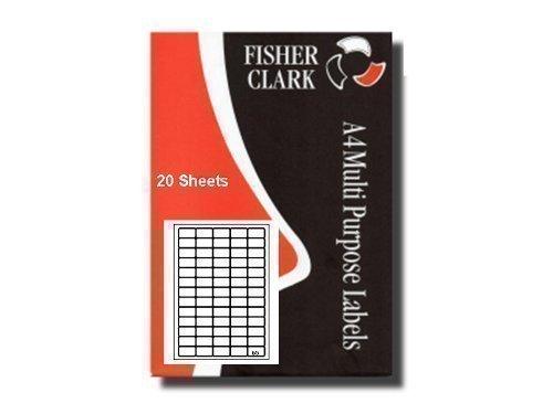 Pk20 A4 - 65 Par Feuille Multi-usage Imprimante Adresse étiquettes. Avery L7551* Compatible
