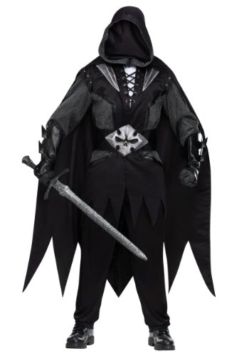 Funworld Mens Cool Outfit Creepy Spooky Evil Knight Medieval Costume