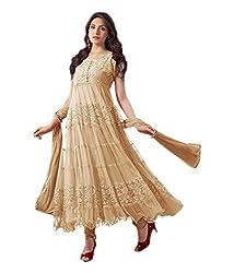 BK ENTERPRISE Women's Beige Braso Attrective Dresses(bk-5_freesize)