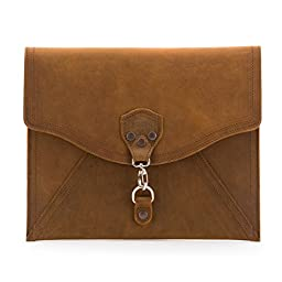 Saddleback Leather Envelope Clutch in Tobacco