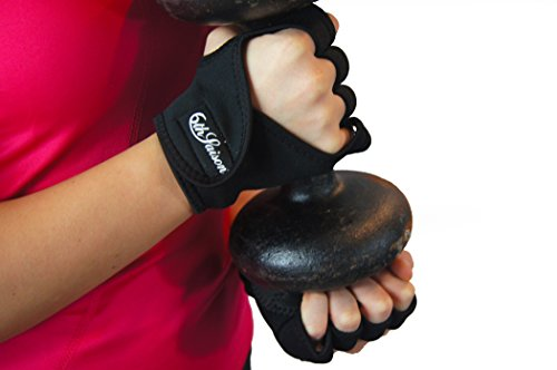 Crossfit-and-Weight-Lifting-Fingerless-Gloves-By-Circuit-ECO-Friendly-Neoprene-Resilient-Butterfly-Screen-Cloth-Sweat-absorption-towelling-Great-for-CrossFit-Strength-Training-Palm-Protection-To-Avoid