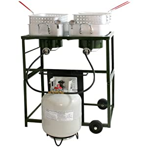Sportsman Series DBCOOK Double Basket Outdoor Cooker and Fryer with Double Burner by Buffalo Tools Lawn & Garden
