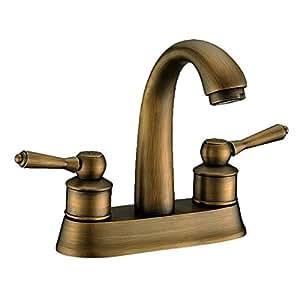 KES Two Handle Bathroom Faucet Lavatory Vanity Sink Faucet 4 Inch Centerset B