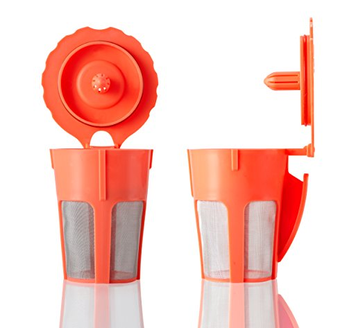 GOLOHO 2 Reusable Carafe Pod Filter for Keurig 2.0 Single Brewer Full Menu (Keurig 130 Filter compare prices)
