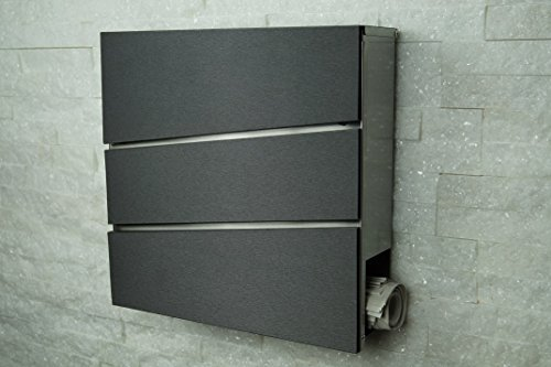briefkasten mailbox aus edelstahl modell 333a frontfarbe in diamant. Black Bedroom Furniture Sets. Home Design Ideas