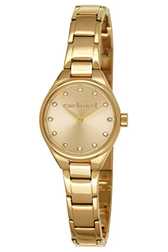 Cacharel CLD 1EM - 045/Women's Watch Analogue Quartz Golden Dial Gold Plated Steel Bracelet