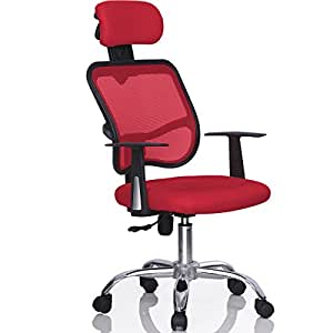 Yaheetech Ergonomic Mesh Computer Office Chair Desk Task Red Kit