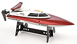The Flyers Bay High Speed 4 Channel Fast Remote Controlled Racing Boat, Red