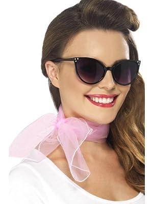 Smiffy's 50's Neck Scarf Chiffon Style (Pink)