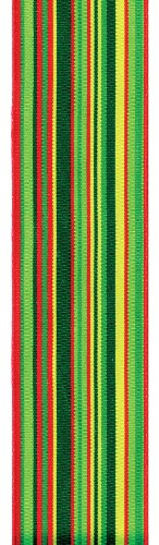 Offray Flatliner Stripe Craft Ribbon, 1-1/2-Inch Wide by 50-Yard Spool, Red/White/Green