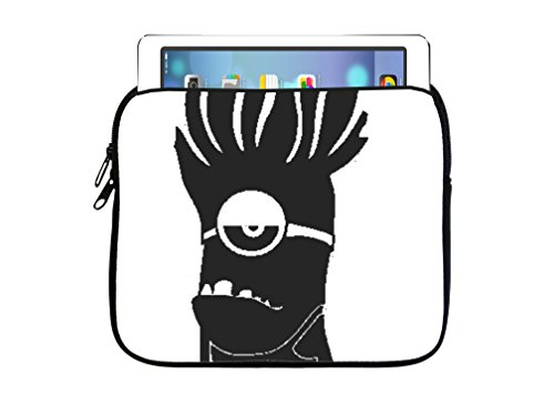 Funny Minion Silhouette Design Print Image 7.5x8 inch Neoprene Zippered Tablet Sleeve Bag by Trendy Accessories for iPad, Kindle, Tab, Note, Air, Mini, Fire (Kindle Fire Vs Ipad Mini compare prices)