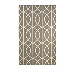 dwellstudio gate ash and cream rug 5 by 8