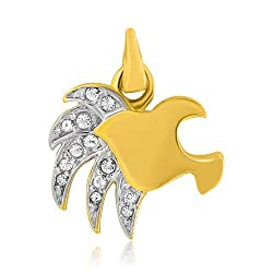 Mahi Gold Plated Confident Leo Pendant of Brass Alloy with CZ for Women PS1101435G