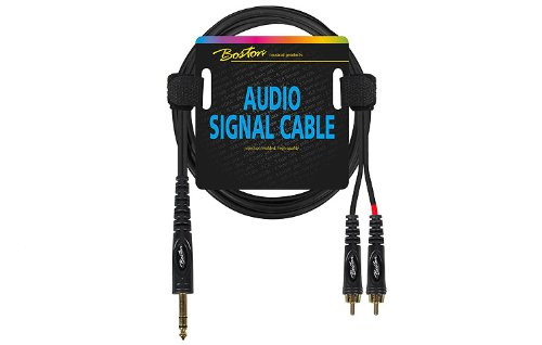 2-x-phono-rca-male-to-1-4-635mm-stereo-jack-lead-pro-audio-cable-9m-30ft