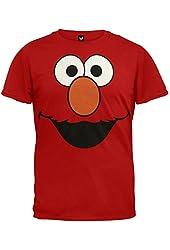 Sesame Street Elmo Face RED Men T-Shirt Medium