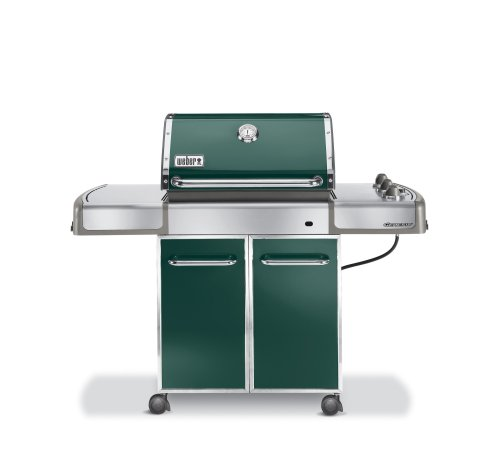 Weber 3747001 Genesis E-310 Propane Grill, Dark Green