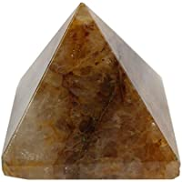 Bhavika Collectible Natural Yellow Aventurine Pyramid Reiki Healing Pyramid For Meditation Vastu Reiki 51mm X...