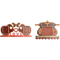Mugdh Art Wooden Combo Of Photo Frame And Key Holder