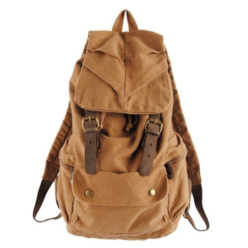 kingdo Mens Womens Rucksack Canvas Backpack School