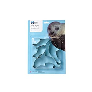 Dexam Natural History Museum Tinplate Under the Sea Cookie Cutters, Set of 4