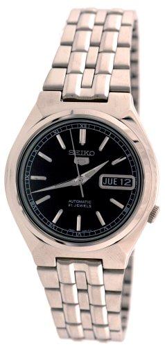 Seiko Men's SNK307K Seiko 5 Automatic Black Dial Stainless Steel Watch