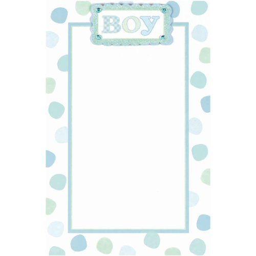 Blue Baby Dot Imprintable Invitations 12ct